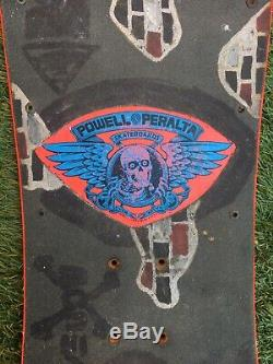 1983 Rare Og Powell Peralta Tony Hawk Chicken Skull Skateboard Deck