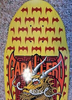 2016 Powell Peralta Steve Caballero Dragon And Bats Yellow Re-issue Deck