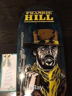 Cease and desist skateboard, Powell Peralta, World Industries, Frankie Hill