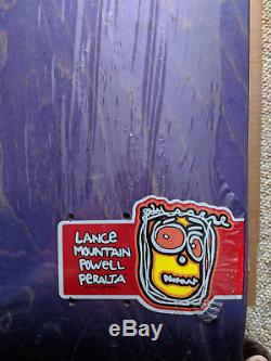 NOS Mint Powell Peralta Lance Mountain New Job Skateboard Deck In Shrink