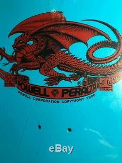 NOS Powell Peralta Bug Skateboard Deck Blue Green VCJ Art Board Cliver 1987 NEW