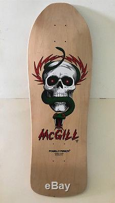 NOS Vintage1985 Powell Peralta Mike McGill Natural Skateboard Deck NOT Reissue