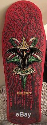 New Powell Peralta Tony Hawk Bird Claw Pink Skateboard Bottlenose Deck Mint