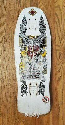 Old school Lance Mountain Crest Powell Peralta skateboard deck coat of arms