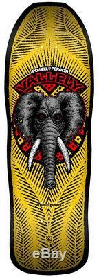 POWELL PERALTA Mike Vallely Elephant Skateboard Deck YellowithBlack