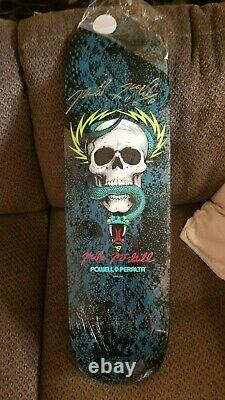 Powell Peralta 2014 Blue Mike McGill Skull and Snake Reissue with Gold Autograph