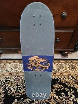 Powell Peralta COMPLETE Skateboard Rodriguez Skull and Sword Blue 2010 Re-Issue