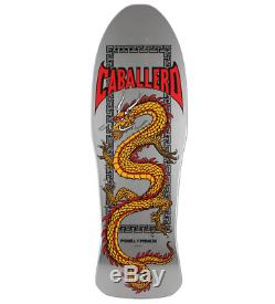 Powell Peralta Chinese Dragon Caballero Silver 10.0 Reissue Skateboard Deck