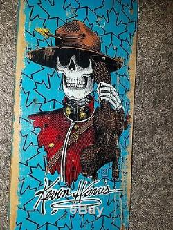 Powell Peralta Kevin Harris Skateboard Deck 1986 Rare blue signed & autographed