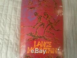 Powell Peralta Lance Mountain Future Primitive Reissue Skateboard Deck New -Red