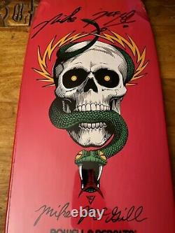 Powell Peralta Mike McGill Skateboard SIGNED & AUTHENTICATED #3/5 Pink Reissue