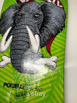 Powell Peralta Mike Vallely ELEPHANT REJECT Skateboard Deck GREEN 2008