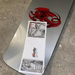Powell Peralta Ray Rodriguez OG Skull and Sword Skateboard Deck Silver 10 x 30