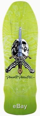 Powell Peralta SWORD AND SKULL LIMITED EDITION Deck LIME Out Of Print 2009