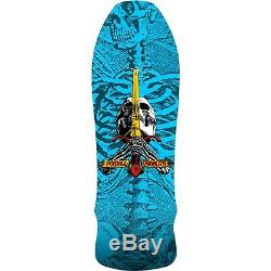 Powell Peralta Skateboards GeeGah Skull and Sword Blue with Mob Grip