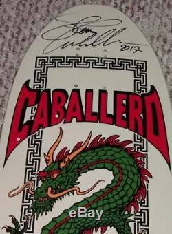 Powell Peralta Steve Caballero Chinese Dragon Signed Skateboard Deck with COA