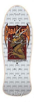 Powell Peralta Steve Caballero DRAGON AND BATS Skateboard SILVER Out Of Print