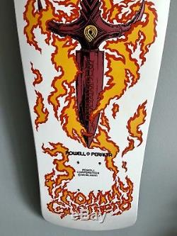 Vintage Powell Peralta Tommy Guerrero Flaming Dagger skateboard MINT unused deck